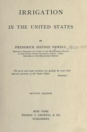 Irrigation in the United States by Newell, Frederick Haynes