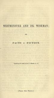 Cover of: Westminster and Dr. Wiseman