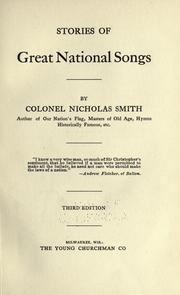 Cover of: Stories of great national songs