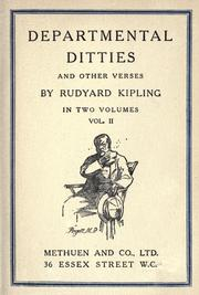 Cover of: Departmental ditties and other verses by Rudyard Kipling