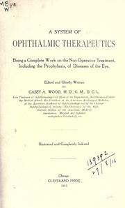 Cover of: A system of ophthalmic therapeutics