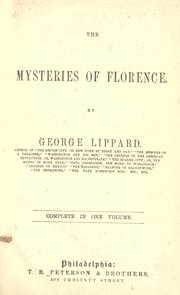 Cover of: The mysteries of Florence