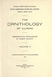 Cover of: The ornithology of Illinois