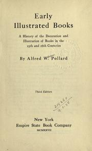 Early illustrated books by Alfred William Pollard