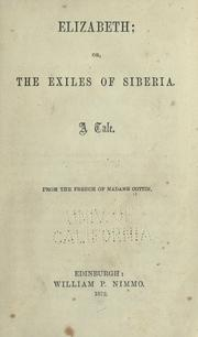 Cover of: Elizabeth; or The exiles of Sibera