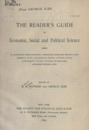 Cover of: The reader's guide in economic, social and political science
