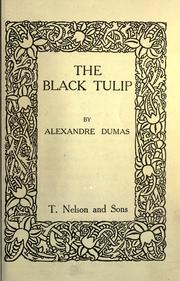 Cover of: La tulipe noire