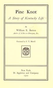 Cover of: Pine Knot; a story of Kentucky life