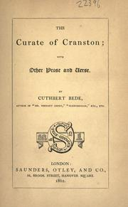 Cover of: The curate of Cranston: with other prose and verse