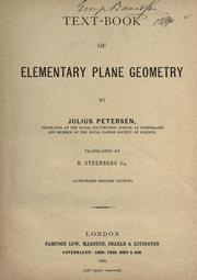 Cover of: Text-book of elementary plane geometry ..