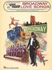 Cover of: Broadway Love Songs