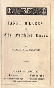 Cover of: Janet M'Laren