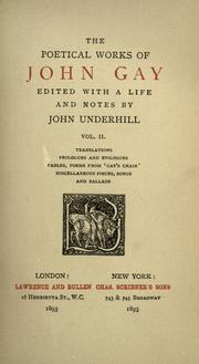 Cover of: The poetical works of John Gay
