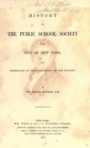 Cover of: History of the Public School Society of the City of New York