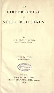 Cover of: The fireproofing of steel buildings