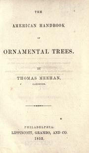 Cover of: The American handbook of ornamental trees
