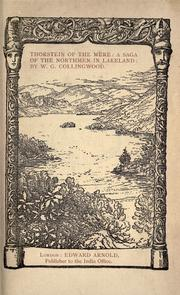 Cover of: Thorstein of the mere | W. G. Collingwood