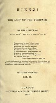 Cover of: Rienzi, the last of the tribunes