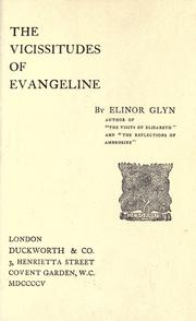 Cover of: The vicissitudes of Evangeline: a novel