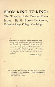 From king to king by G. Lowes Dickinson