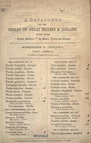 Cover of: A catalogue of the shells of Great Britain & Ireland