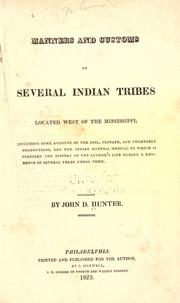 Cover of: Manners and customs of several Indian tribes