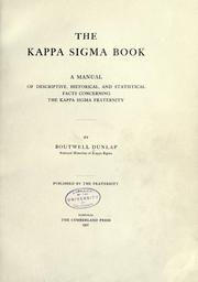 Cover of: The Kappa Sigma book