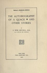 Cover of: The Autobiography of a Quack and Other Stories