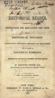 Cover of: The rhetorical reader