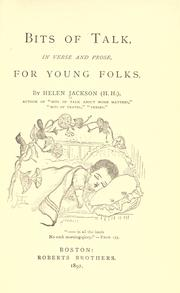 Cover of: Bits of talk, in verse and prose, for young folks