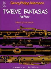 Cover of: Twelve Fantasias for Solo Flute