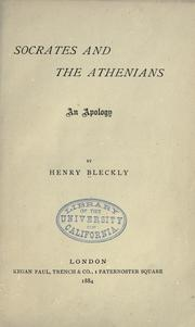 Cover of: Socrates and the Athenians