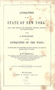 Cover of: Antiquities of the state of New York: Being the results of extensive original surveys and explorations, with a supplement on the antiquities of the West...