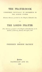 Cover of: The Prayer-book considered especially in reference to the Romish system