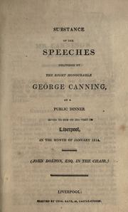 Cover of: Substance of the speeches