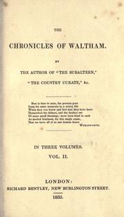 Cover of: The chronicles of Waltham
