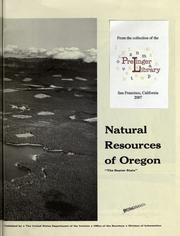Cover of: Natural resources of Oregon