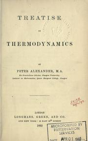 Cover of: Treatise on thermodynamics