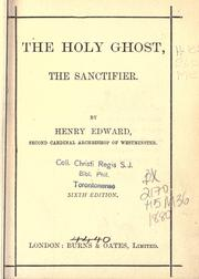 Cover of: The Holy Ghost, the sanctifier