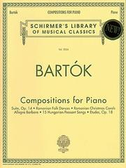 Cover of: Compositions for Piano