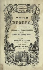 Cover of: A third reader of a grade between the second and third readers of the School and family series