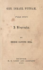 "Cover of: Gen. Israel Putnam (""Old Put""): a biography"