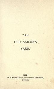 Cover of: An old sailor's yarn