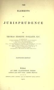 The elements of jurisprudence by Holland, Thomas Erskine Sir