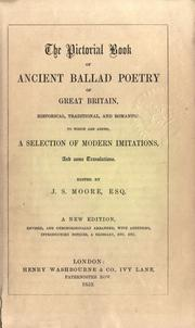 Cover of: The pictorial book of ancient ballad poetry of Great Britain, historical, traditional, and romantic