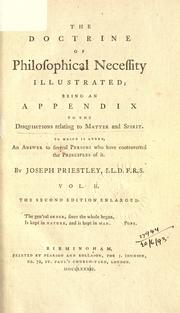 Cover of: Disquisitions relating to matter and spirit | Priestley, Joseph