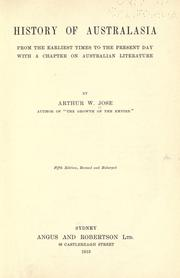 Cover of: History of Australasia