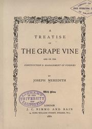 Cover of: A treatise on the grape vine
