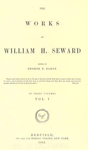 Cover of: The works of William H. Seward