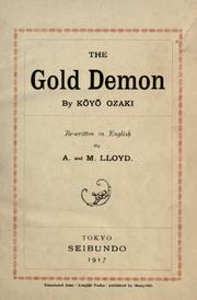 Cover of: The gold demon